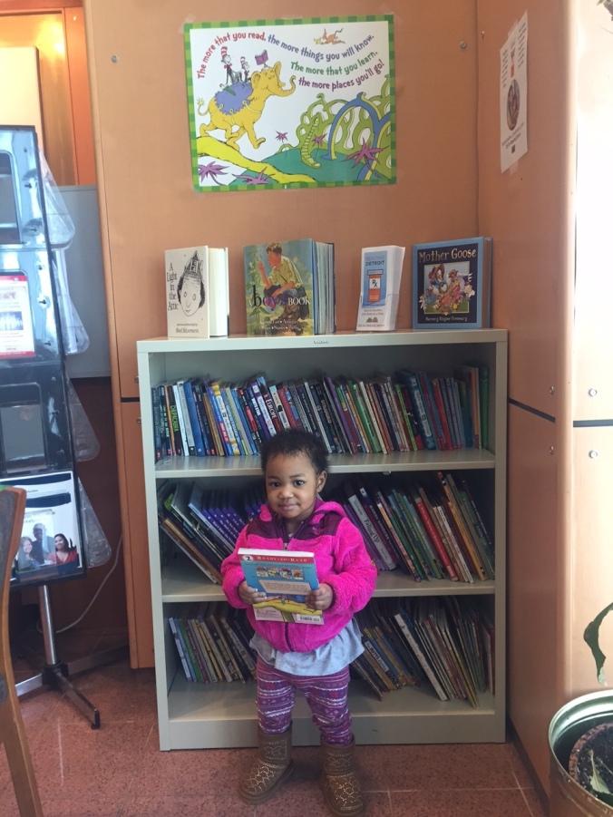 Little Allison picks her new book!