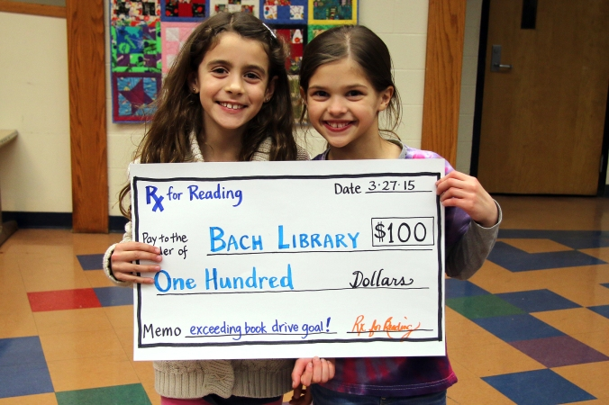 Audrey and Ava represented the school at the March is Reading Month celebration.