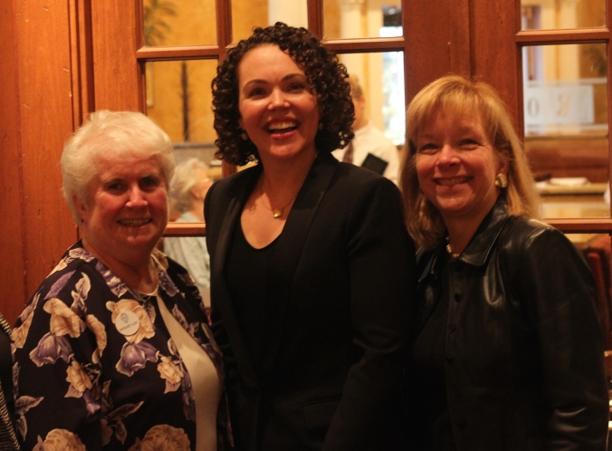 Mary-Catherine Harrison with Margaret Auer, WNBA Detroit Treasurer and Dean of University Libraries and Instructional Technology at University of Detroit Mercy and Pamela Zarkowski, Provost and Vice President of Academic Affairs at University of Detroit Mercy.
