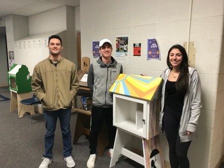 The Beatty Early Learning Center Library, painted by Paige Fairchild, Connor Batcheller, and Mike Tartaglia